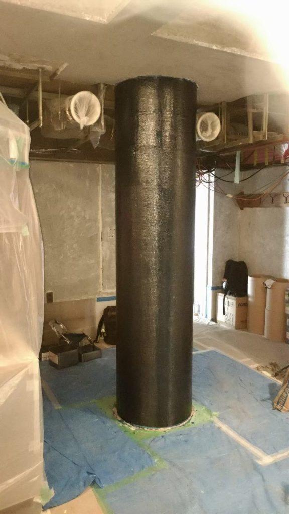 炭素繊維補強工事施工後